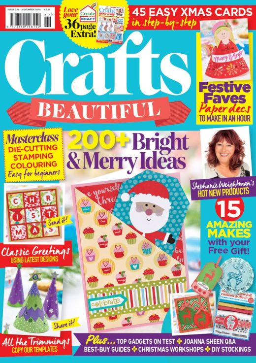 Crafts Beautiful November 2016 Issue 299 Template Pack