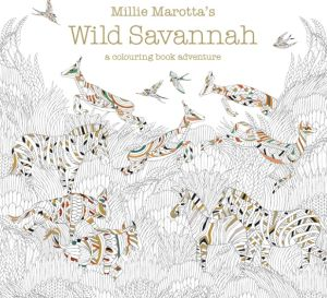 Wild Savannah Colouring In Page
