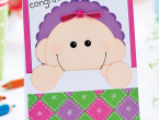Paper Piece a New Baby Card