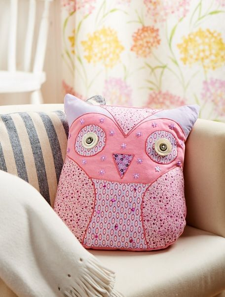 owl cushion pattern  u0026 applique