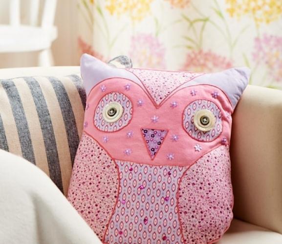 Owl Cushion Pattern & Applique - Free Card Making Downloads ...