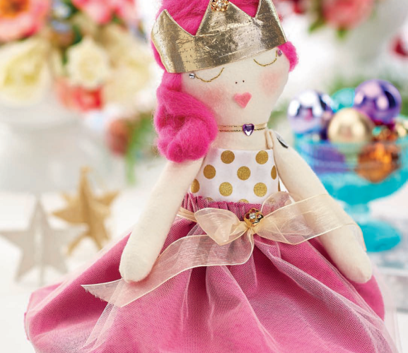 Pretty In Pink Stitched Princess Doll