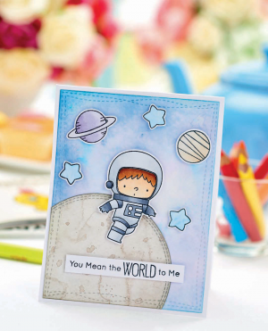 Space Boy Card